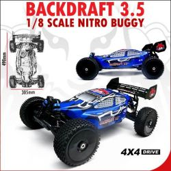 Redcat Racing BackDraft 3.5 Parts