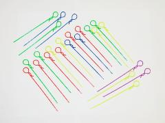 02401 Long colored body pins qty 2