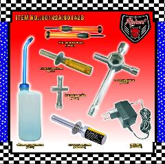 80142A Starter Kit Includes: Tools, Fuel Bottle, Glow Plug Starter, and a Glow Plug Charger