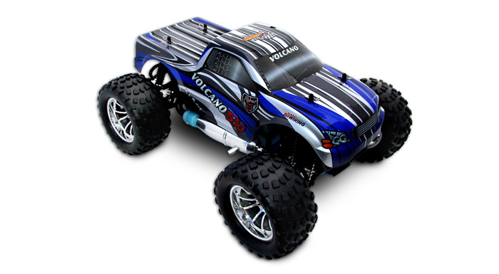 Redcat RC Volcano S30 1/10 Scale Nitro Monster Truck Blue