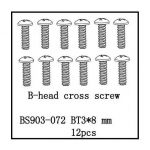 B-Head Cross Screw(BT3*8) 12 PCS