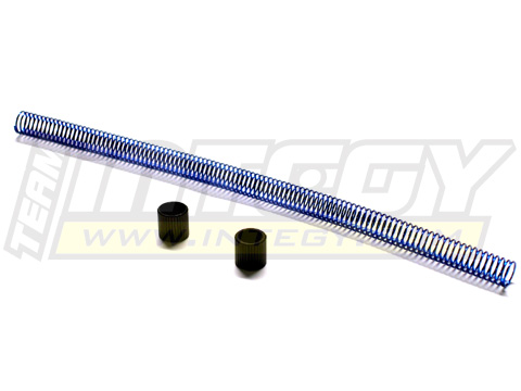 Blue Coiled Nitro Engine Fuel Line Protector 6in