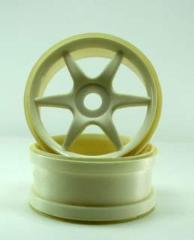 81036w White 6 spoke wheels 2pcs for 17mm Hubs