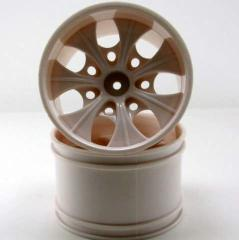08008nw 2.8 White 7 spoke wheels 2pcs