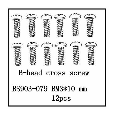 B-Head Cross Screw(BM3*10) 12 PCS
