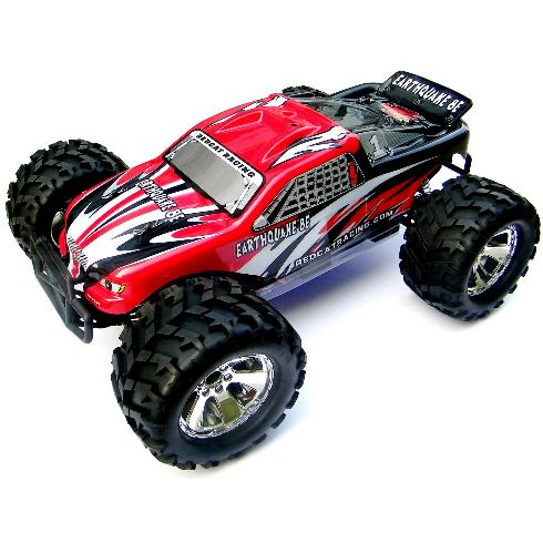 Red Earthquake 8E 1/8 Scale Brushless Electric Monster Truck